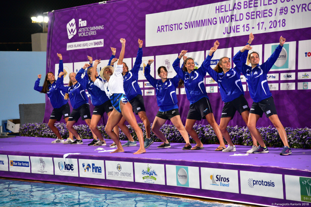 Hellas Beetles Fina Artistic Swimming word series 2019  Αλεξανδρούπολη.